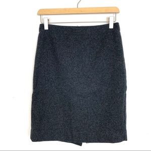 J.crew The Pencil Skirt Size 0 Double Serge Wool